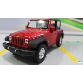 Jeep Wrangler Rubicon Conversível Vermelho 1:32 Welly