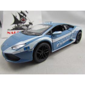 Lamborghini Huracán Polícia LP-610 Kinsmart 1:36