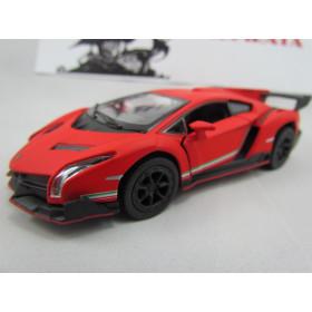 Lamborghini (Matte)  Veneno Vermelha Fosco Kinsmart 1:36