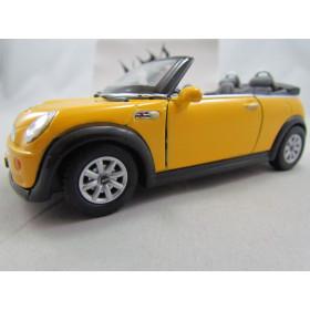 Mini Cooper S Convertible Amarelo Kinsmart 1:28