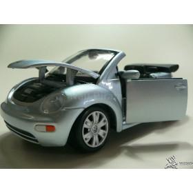 New Beetle Cabriolet Prata Conversível Maisto 1:25