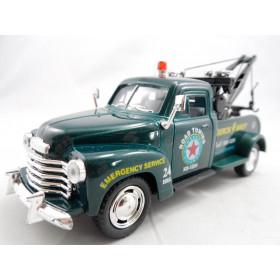 Pickup Chevrolet 3100 Wrecker 1953 Guincho Verde - Kinsmart 1:38