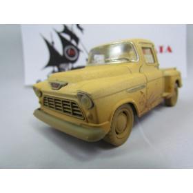 """Pickup Chevrolet Stepside Marta Rocha 1955 """"Enlameada"""" Bege Kinsmart 1:38"""