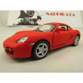 Porsche (Matte) Cayman S Vermelho Fosco Kinsmart 1:34