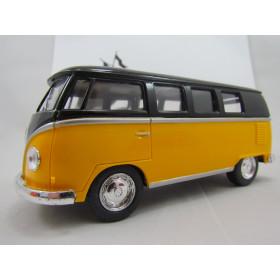 VW Kombi (Classical Bus) 1962 Amarela com Teto Preto Kinsmart 1:32