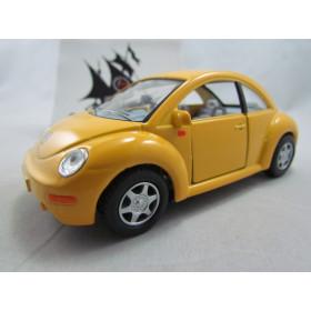 VW New Beetle Amarelo Kinsmart 1:32