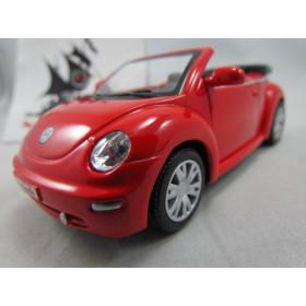 VW New Beetle Convertible Vermelho Kinsmart 1:32