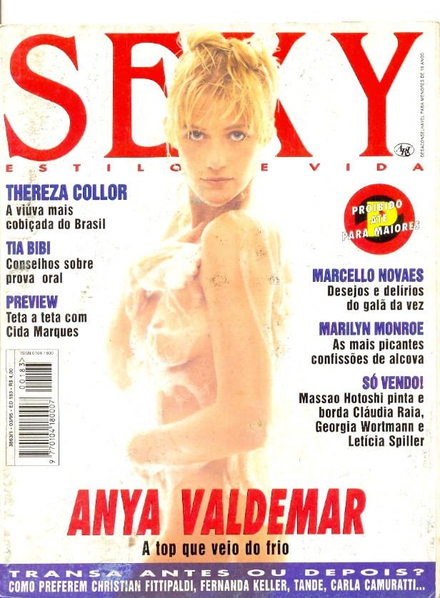 Revista Sexy Anya Valdemar 183 Mar 1995 Original*