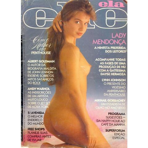 Revista Ele Ela Lady Mendonça 244 1989 Original*