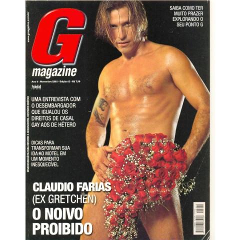 Revista G Magazine Claúdio Farias Ex Gretchen Original