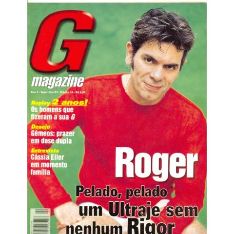 Revista G Magazine Roger Ultraje Rigor 2 Set 99 Original