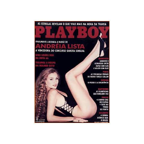 Revista Playboy Andreia Lista 206 Set 1992 Original