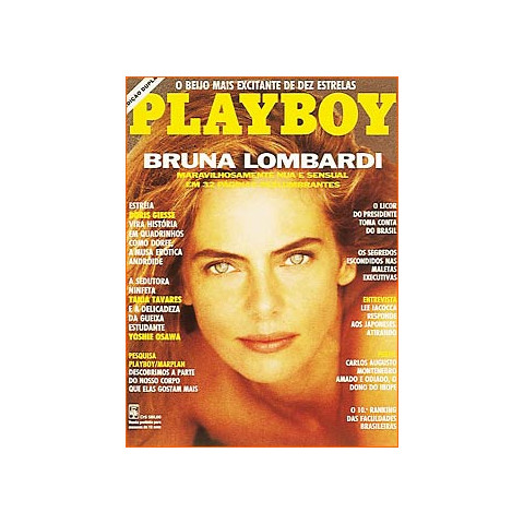 Revista Playboy Bruna Lombardi 188 Mar 1991 Original
