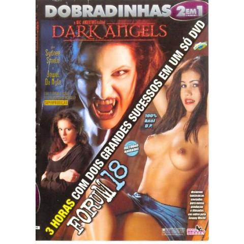 Dvd Dobradinhas 2 em 1 Dark Angels & Forum 18 Sexxxy Original
