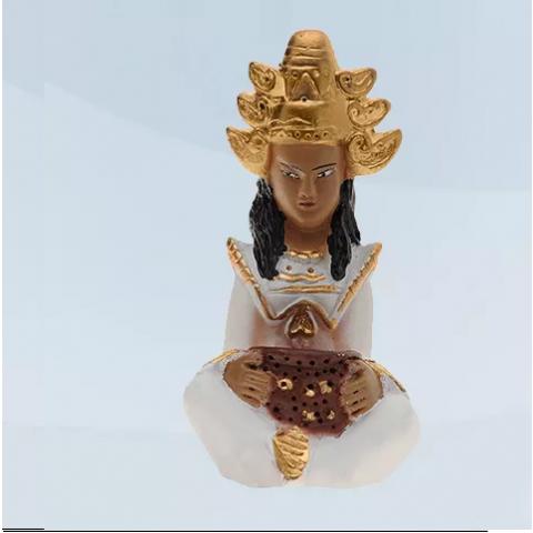 Imagem Deus Hindu com Roupa Branca em Resina 10 cm