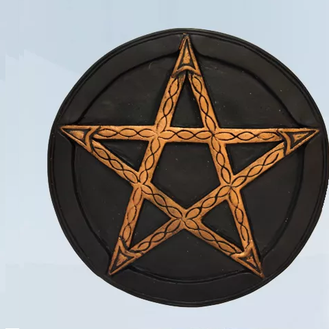 Imagem Quadro Hexagrama 18 cm Gesso