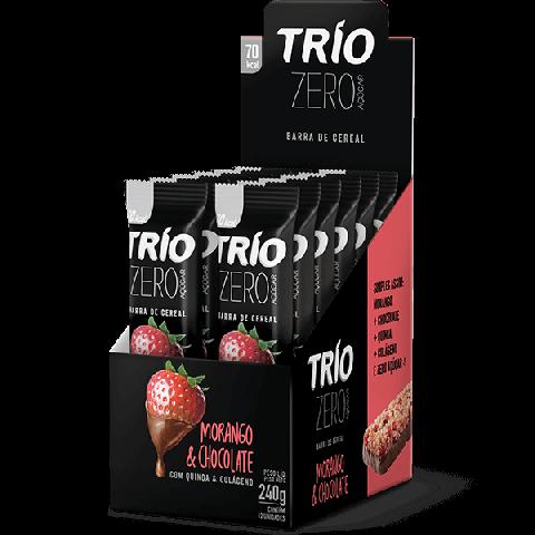 Promoção - Caixa 12 Un Trio Deli Barras Cereais Morango Chocolate * Zero Acúcar