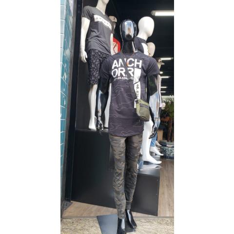 Promoção - Calça Camuflada + Camiseta Longa Cintura Moderna