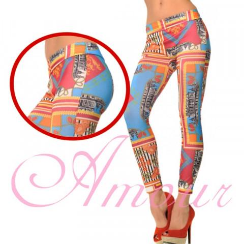 PROMOÇÃO - **Calça Legging Colorida Estampada Lavagem Diferenciada IMPORTADA