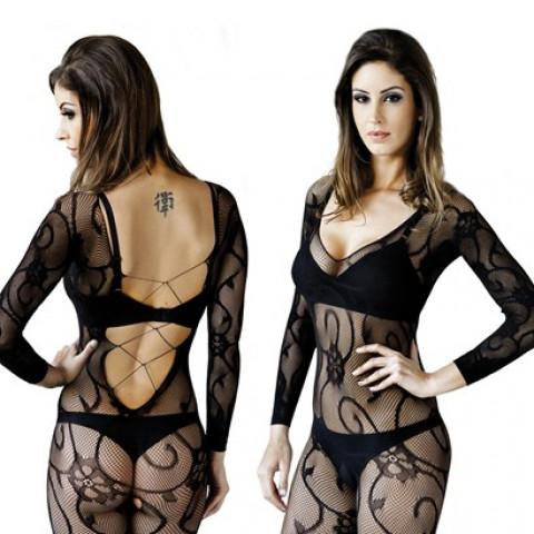 Promoção - Macação Legs Le Cher Jasmin Sexy Arrastão