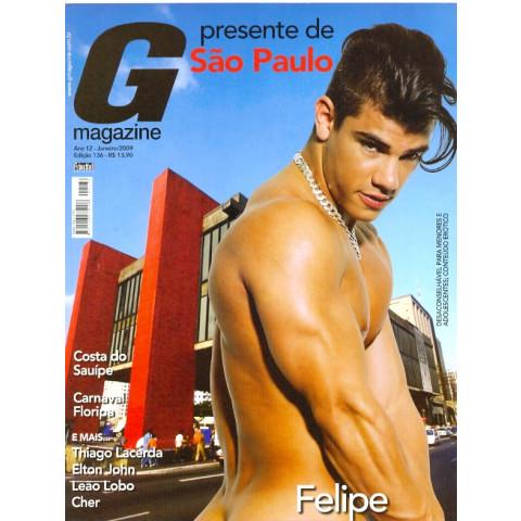 Revista G Magazine Gay Felipe Presente Sp 136 Jan 2009 Original