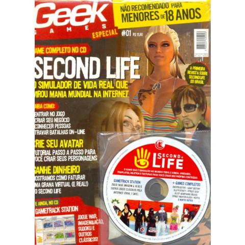 Revista Pc Geek Games Especial Second Life Porno E Erótico I Original