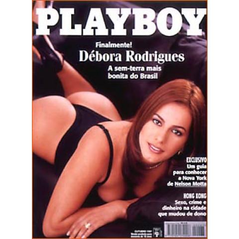 Revista Playboy Débora Rodrigues 267 Out 1997 Original*