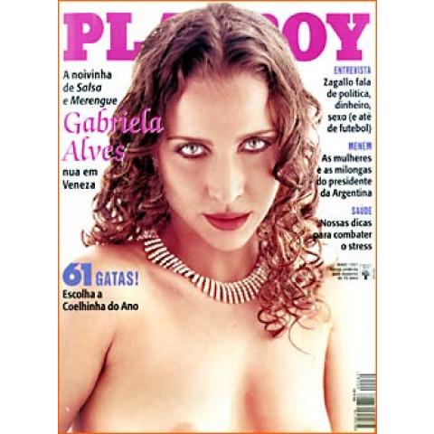 Revista Playboy Gabriela Alves 262 Mai 1997 Original