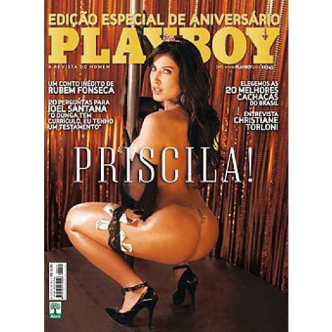 Revista Playboy Priscila Bbb 411 Agos 2009 Original