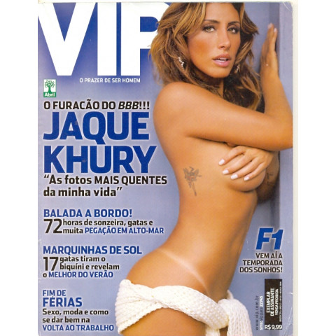 Revista Vip Jaque Khury 276 Mar 2008 Original