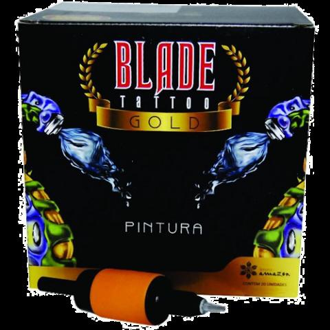 Caixa Biqueira Descartável Blade Tattoo Gold - F11