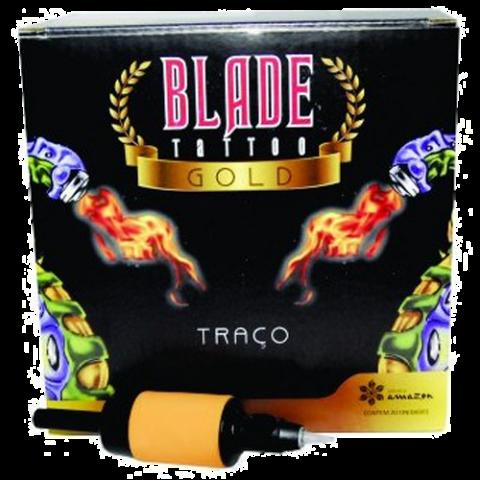 Caixa Biqueira Descartável Blade Tattoo Gold - RL09