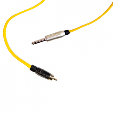 Clip Cord RCA - Electric Ink - Amarelo