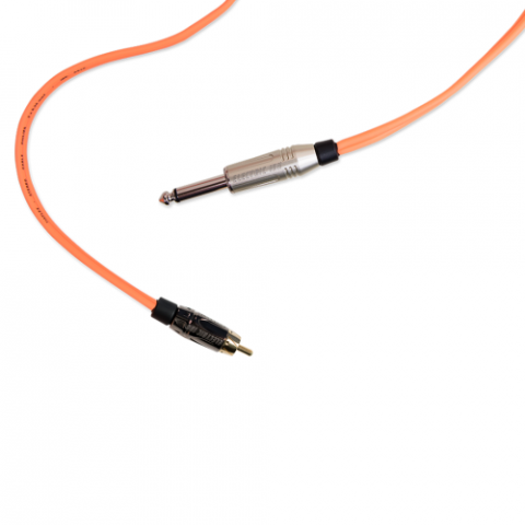 Clip Cord RCA - Electric Ink - Laranja