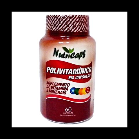 Polivitamínico A a Z Suplemento de Vitaminas e Minerais - 60 Cápsulas.