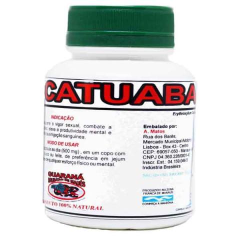 Energético Afrodisíaco Natural Catuaba 60 Cápsulas de 500 mg