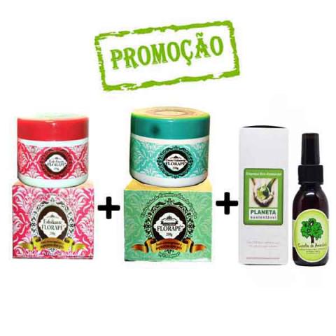 Kit Óleo de Copaíba 60 ml Creme Hidratante para pés + Creme Esfoliante para os pés 250G