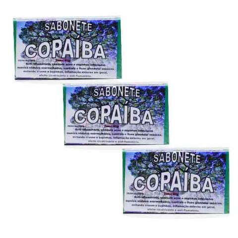 Kit com 3 Sabonetes de Copaíba Produção Artesanal