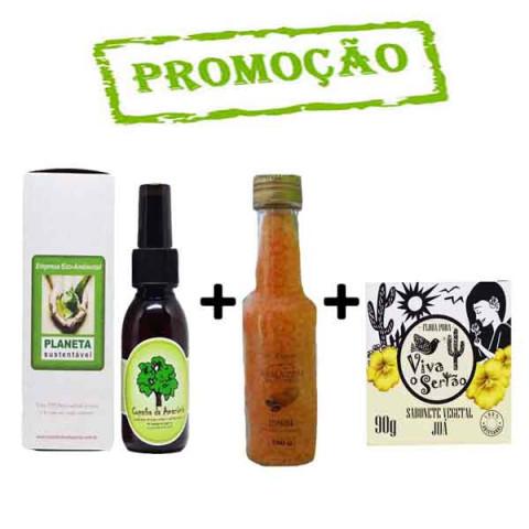 KIT- Óleo de Copaíba 60ml frasco âmbar + Sal de Banho + sabonete do sertão juá
