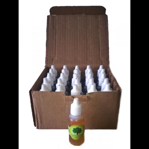 Óleo de Copaíba frasco Transparente conta gotas 30 ml- 25 Frascos na Embalagem para Revenda