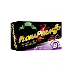 Energetico Natural Guaraná,Açai,Jatobá + Vitaminas do complexo B Flora Pura Mais