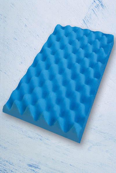 Coxim de espuma na cor azul (tipo caixa de ovo) Dilepé