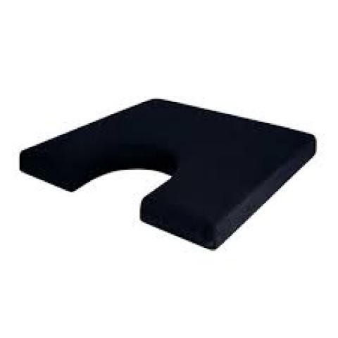 Almofada protetor para cóccix perfil baixo na cor preta genere látex Perfetto