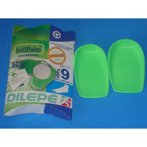 Calcanheira em gel na cor verde Dilepé(tamanhos P/M/G)-par