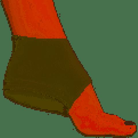 Calcanheira Pauher Support Ortho Pauher na cor bege com amortecedor de silicone(tamanhos P/M/G)
