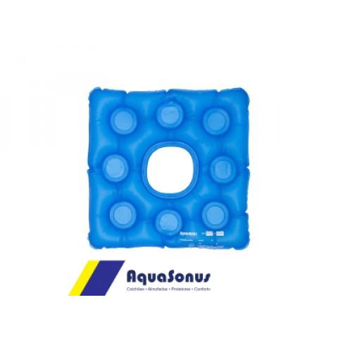 Forração ortopédica de assento caixa de ovo de gel quadrada com orifício Aquasonus