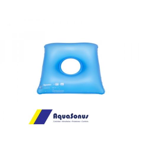 Forração ortopédica de assento inflável quadrada com orifício Aquasonus