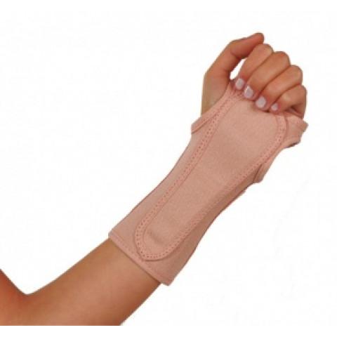 Órtese punho com tala bilateral cor bege Mercur(tamanhos P/M/G)-unidade
