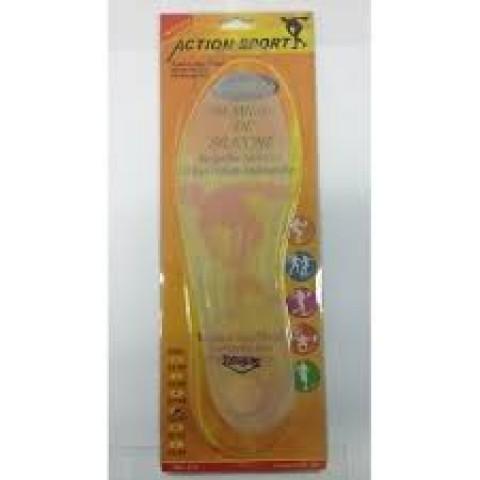 Palmilha de silicone Action Sport ( tamanhos 33 ao 44)-par