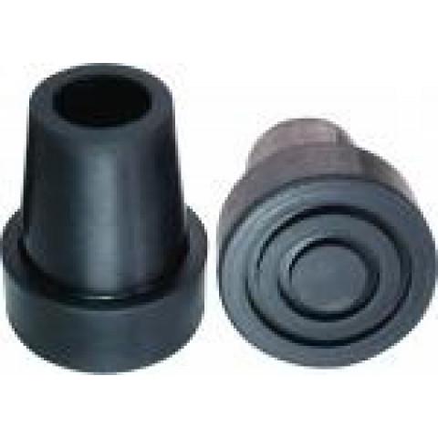 Ponteira de borracha na cor preta para muleta de madeira(unidade)